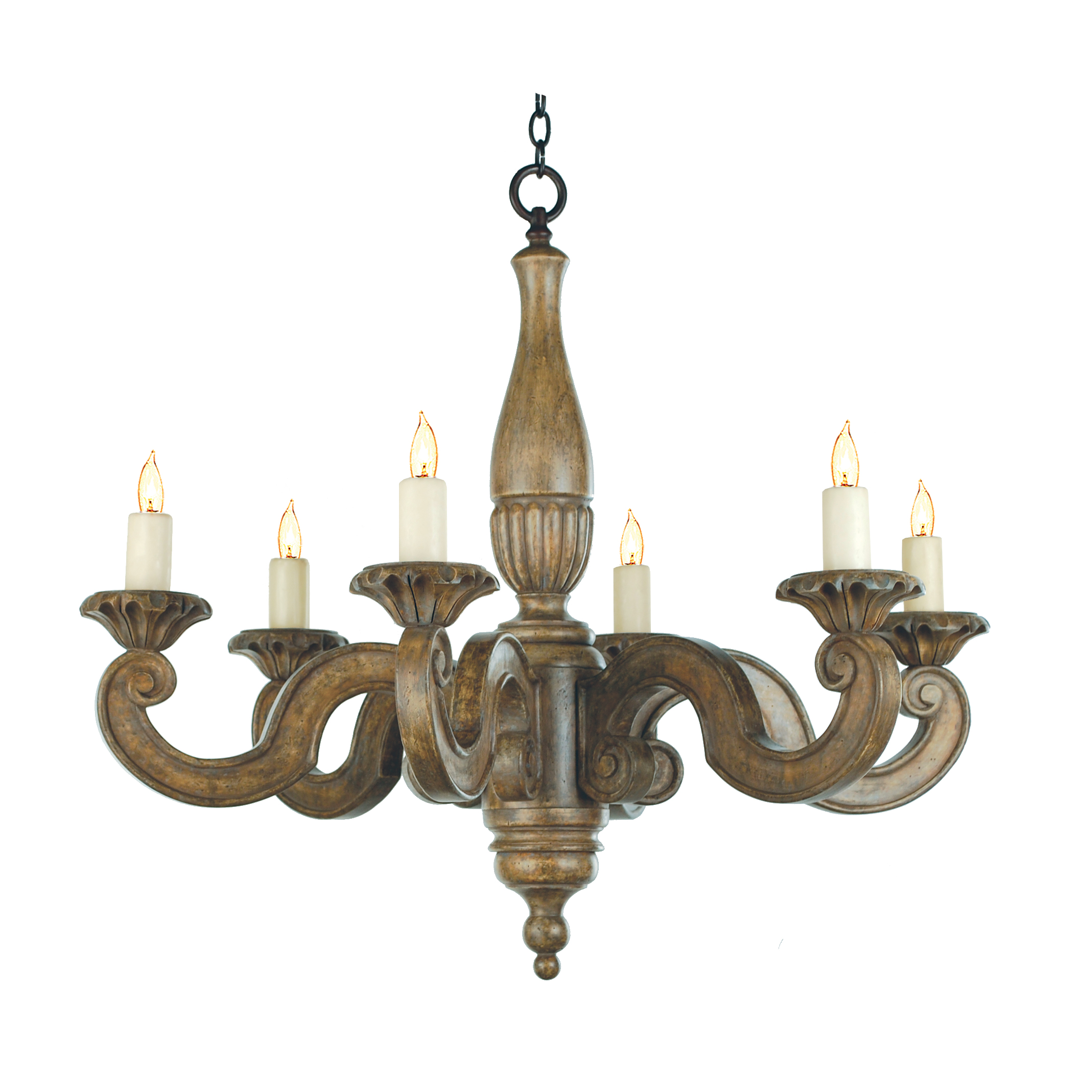 7054 43 dana creath designs 7054 43 six light hand carved wood chandelier aloadofball Gallery